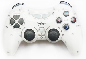 Wireless PC Game Controller (White color)