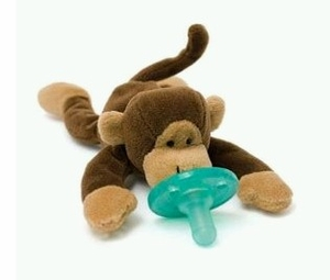 "Wubbanub Baby ""Monkey"" Plush Toy Pacifier"