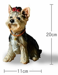 'Yorkshire Terrier Sitting' Dog Figurine