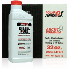 Power Service Diesel Fuel Supplement + Cetane Boost  12/32 oz. Bottles