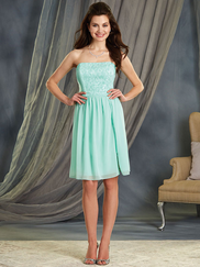 Alfred Angelo 7378S Strapless Bridesmaid Dress