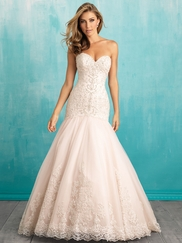 Allure 9325 Sweetheart Beaded Lace Bridal Dress