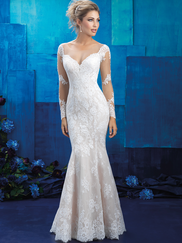 Allure Bridals 9424 Long Sleeves Wedding Gown