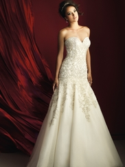 Allure Bridals Couture C365 Sweetheart Beaded Wedding Dress