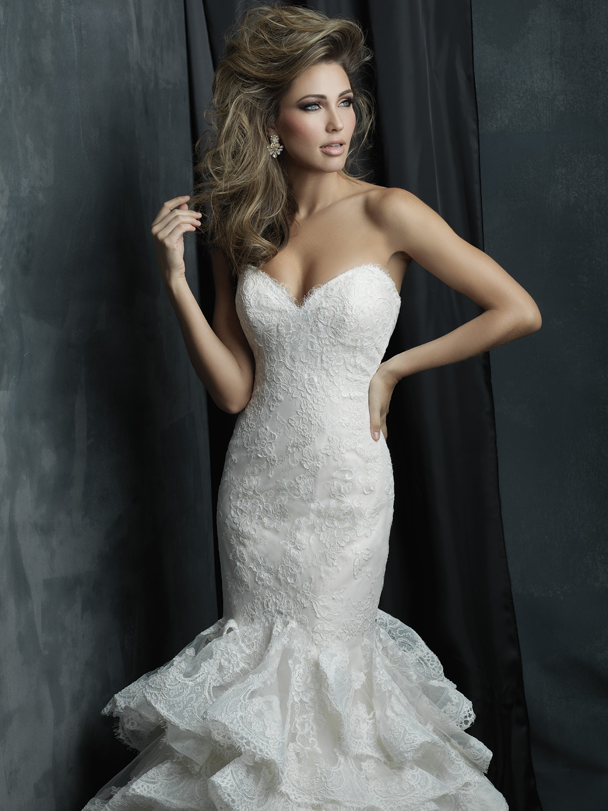 Allure Bridals Couture C384 Sweetheart Mermaid Wedding
