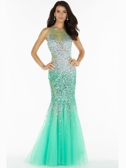 Alyce Paris 6716 Illusion Sweetheart Neckline Prom Gown