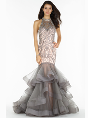 Alyce Paris 6745 Halter Beaded Prom Gown