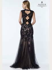 Alyce Paris 6753 V-neck Prom Gown