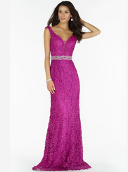 Alyce Paris 6763 Deep V-neck Prom Gown