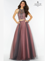 Alyce Paris 6766 Two Piece Prom Gown