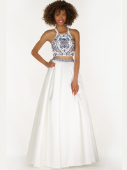 Alyce Paris 6777 Halter Two Piece Prom Gown