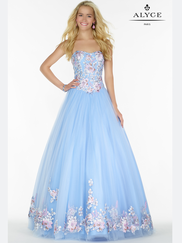 Alyce Paris 6797 Strapless Embroidered Prom Gown