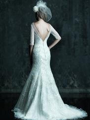 Beaded Mermaid Silhouette Wedding Dress Couture By Allure Bridals C246