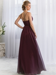 V-neck Pleated Belsoie Bridesmaids Dress by Jasmine L164052