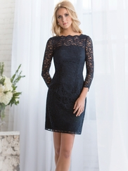 Long Sleeves Lace Belsoie Bridesmaids Dress by Jasmine L164072