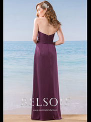 Belsoie L184003 Sweetheart Pleated Bridesmaid Dress