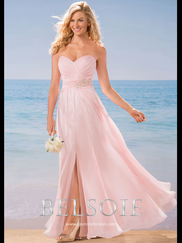 Belsoie L184005 Sweetheart Pleated Bridesmaid Dress