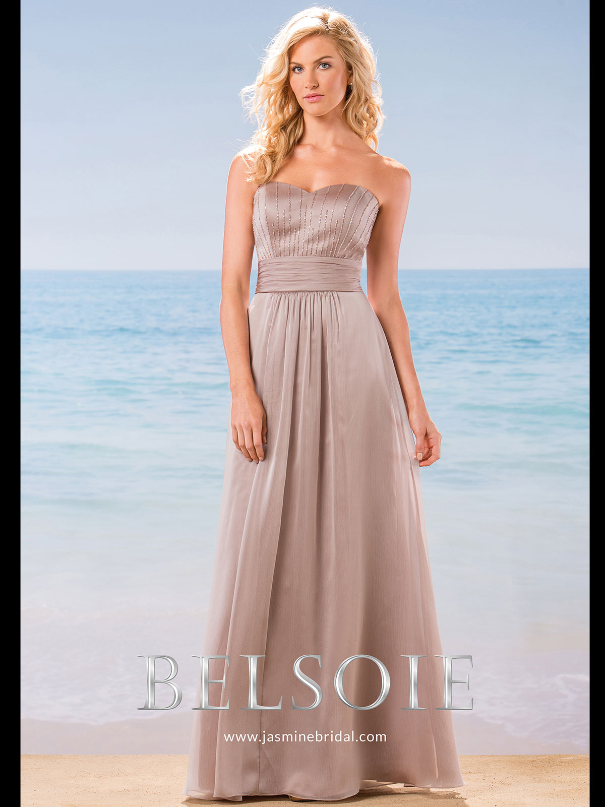 Belsoie l184006 sweetheart chiffon a line bridesmaid dress belsoie l184006 sweetheart beaded bridesmaid dress ombrellifo Image collections