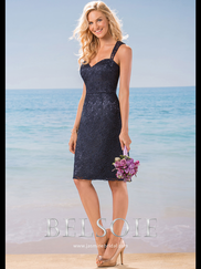 Belsoie L184018 Sweetheart Lace Bridesmaid Dress