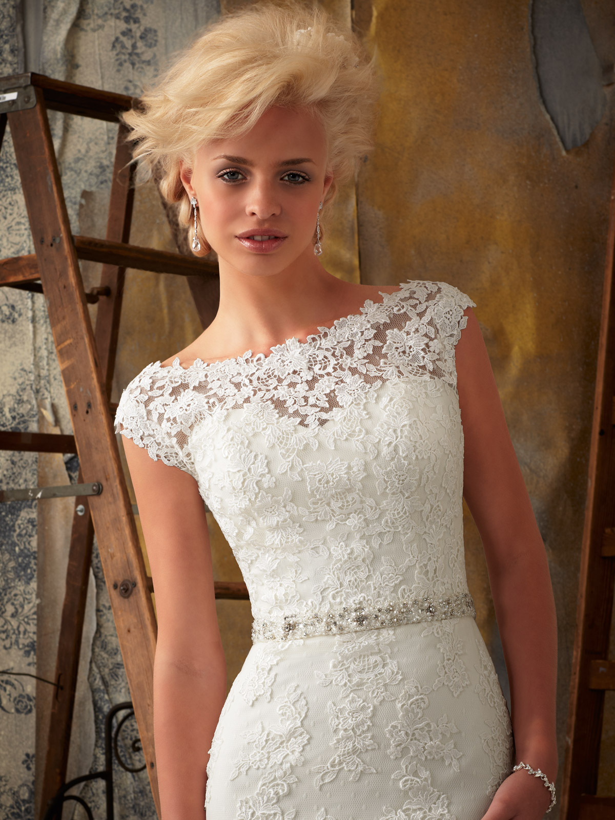Cap Sleeve Trumpet Bridal Gown Mori Lee Bridal Gown 1901 ...