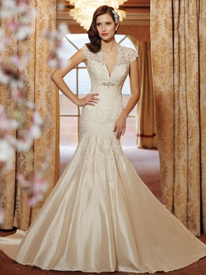 Cap Sleeve Lace Bridal Gown Sophia Tolli Selyse Y11413