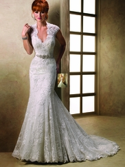 Cap Sleeved Wedding Gown Maggie Sottero Carolina