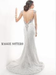 Cap Sleeves Beaded Bridal Gown Maggie Sottero Brandy