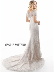 Cap Sleeves Lace Bridal Gown Maggie Sottero Chesney