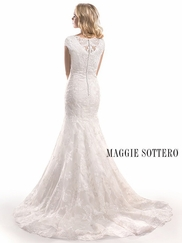 Cap Sleeves Lace Bridal Gown Maggie Sottero Cyrus