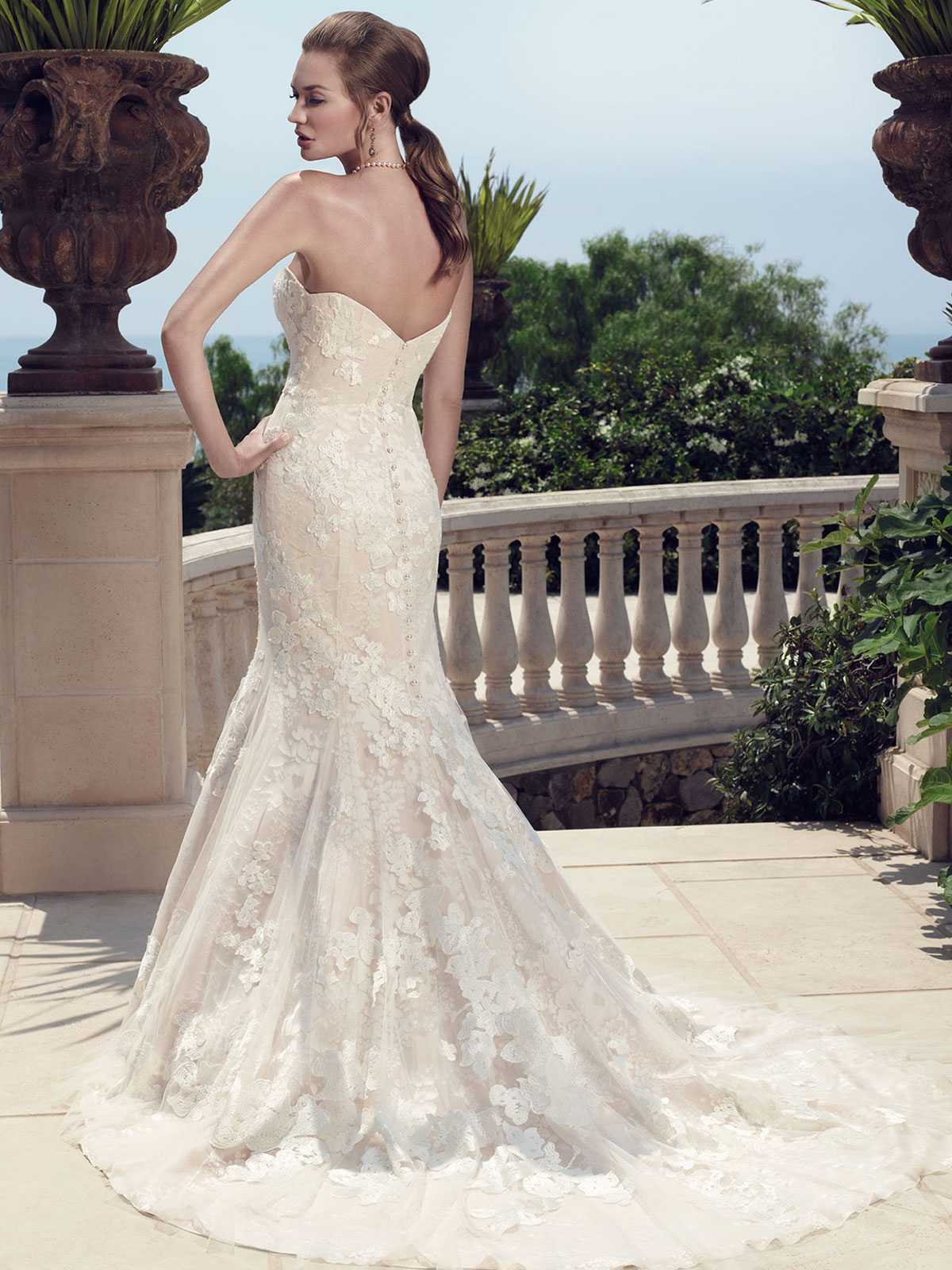 Casablanca 2142 Strapless Mermaid Bridal Gown