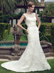 Casablanca 2146 Bateau Neckline Wedding Dress