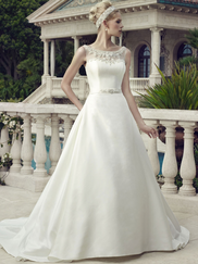 Casablanca 2154 bateau Neckline Wedding Dress