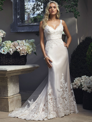 Casablanca 2210 Lace Tank Straps Wedding Dress