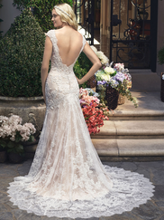 Casablanca 2215 Cap Sleeved Sweetheart Wedding Dress