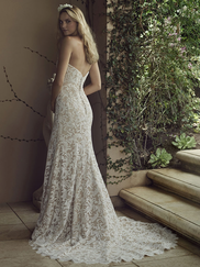 Casablanca 2226 Lace Overlay Wedding Dress