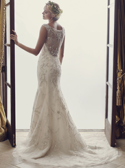 Casablanca 2227 Beaded Embroidery Wedding Dress