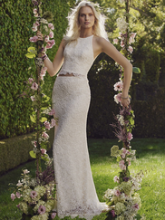 Casablanca 2241 Two Piece Lace Wedding Dress