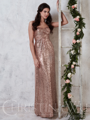 Christina Wu Celebration 22729 Sweetheart Sequined Bridesmaid Dress