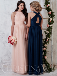 Christina Wu Celebration 22730 High Neck Bridesmaid Dress