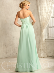 Christina Wu Celebration 22733 Sweetheart Pleated Lace Bridesmaid Dress