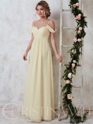 Christina Wu Celebration 22739 Sweetheart Pleated Bridesmaid Dress