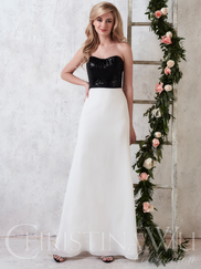 Christina Wu Celebration 22748 Sweetheart Sequin Bridesmaid Dress
