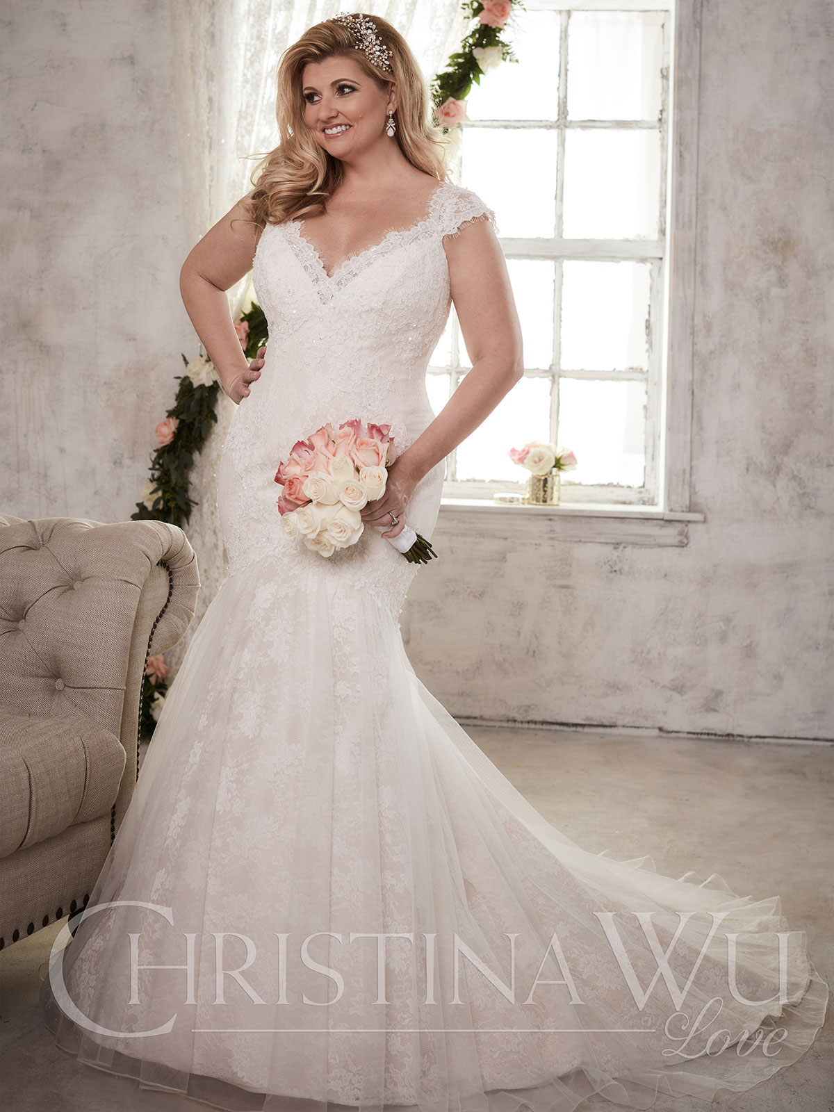 Christina Wu Love 29276 Sweetheart Trumpet Bridal Dress ...