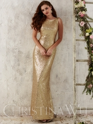 Christina Wu Occasions 22704 Spaghetti Straps Formal Gown