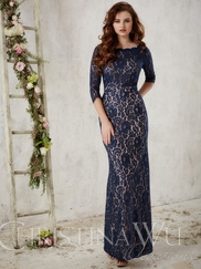 Christina Wu Occasions 22717 three Quarter Sleeves Formal Gown