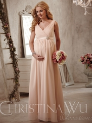 Christina Wu Occasions BM40M V-Neckline  Bridesmaid Gown
