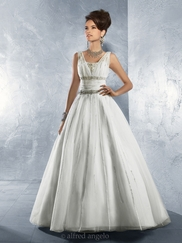 Cinderella Sleeveless Wedding Bridal Dress Alfred Angelo 2166