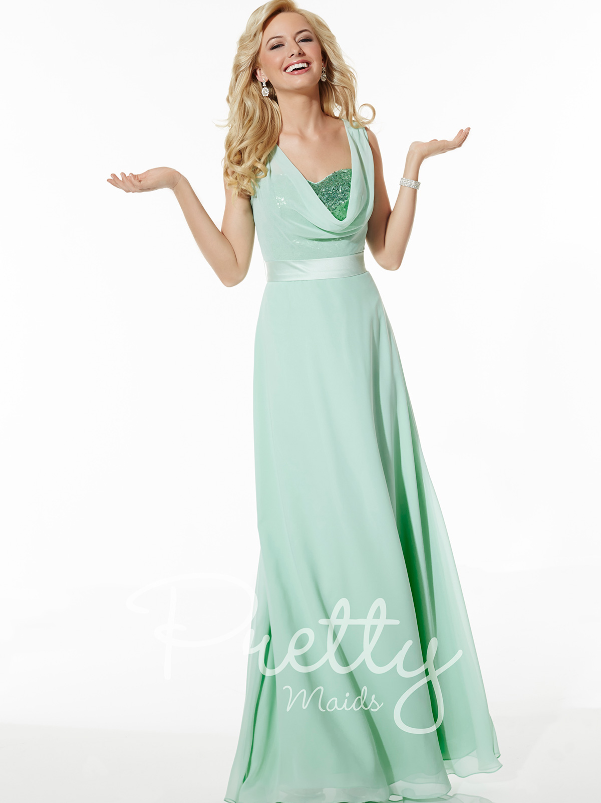 Pretty Maids Bridesmaid Dress 22617: DimitraDesigns.com