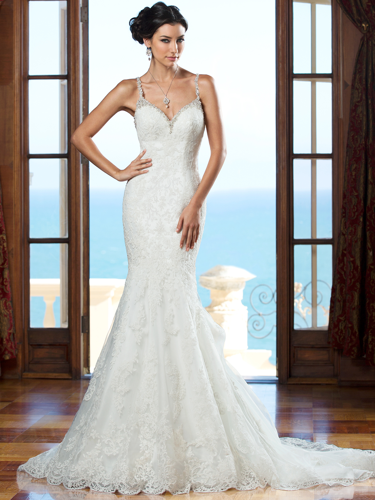 Janice Sung Wedding Fit And Flare With Shoulder Straps Kitty Chen