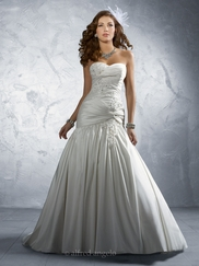 Glamorous Strapless Wedding Bridal Dress Alfred Angelo 2169